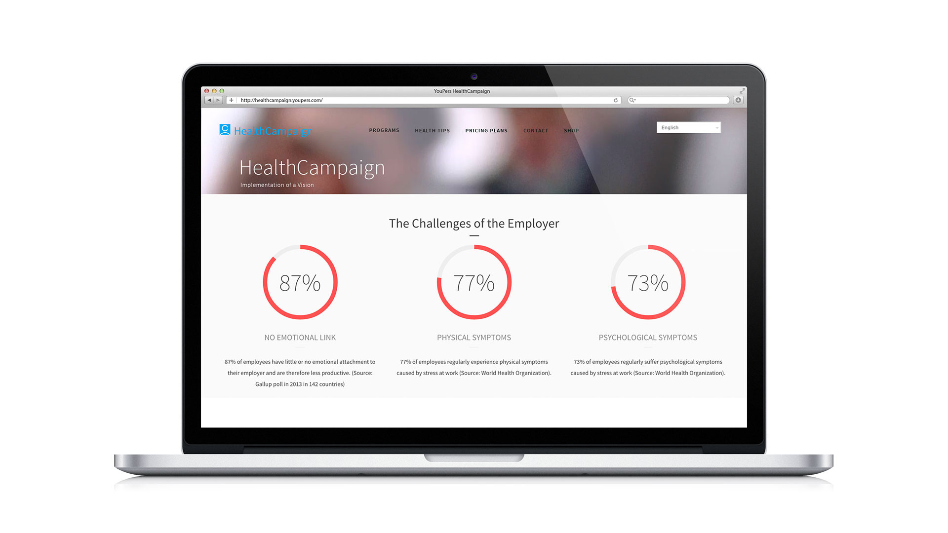 HealthCampaign website